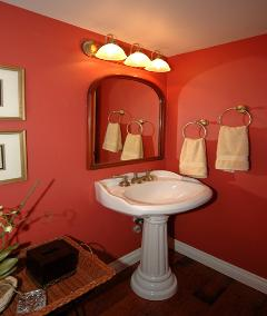 Interior Real Estate Photography - Red Bathroom