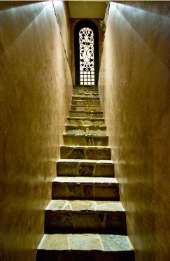 Interior Real Estate Photography  - Wine Cellar Stairs